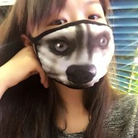 Wholesale 3PCS Fashion Multifunction Animal Cat Cotton Face Mask With Earmuff Women Men Winter Cycling Dust Proof Warmer Mouth Mask Respirator KZ005