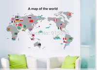 american flag graphic - Set Map Of The World Flag Vinyl Wall Decals Stickers Art Adesivo de parede Wall Murals Home Decor cm