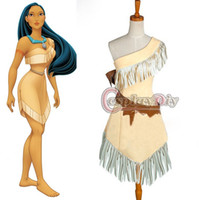 adult fantasy movies - Custom Made Pocahontas Indian Princess Dress Costume Sexy Fantasy Adult Women Halloween Cosplay Costume