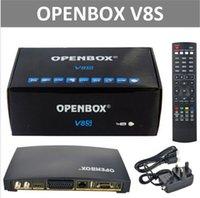 venda por atacado digital receiver-Venda quente Openbox Receptor de Satélite Digital V8S SupporYoutube Youporn CCCAMD Newcamd S-V8 Suporte WEBTV Biss Key 2xUSB slot USB Wifi 3G