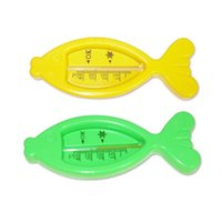Wholesale 2015 Hot Sale Lovely New Floating Fish Baby Bath Thermometer Plastic Toy Baby Water Thermometer Kids Water Sensor Thermometer