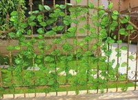 air fence - Ivy Wisteria Vine Rattan Artificial Flower Silk leaf top grade for fence balcony window air condition channel Decoration Garland decoration