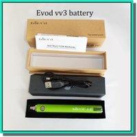 Cheap 1300mAh evod usb battery Best Evod v v3 1300mah adjustable battery evod