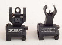 Wholesale Metal Troy Front and Rear Folding Battle sights COMBO best quality