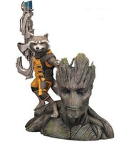 Cheap 8pcs lot 14CM Guardians of the Galaxy Groot & Rocket Raccoon Boxed PVC Action Figure Collectible Model Toy