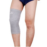 knee support - Bamboo Charcoal Patella Guard Knee Protector Elastic Basketball Leg Sleeve Knee Support Sports Safety Knee Pads Pad Brace Wrap Y0231