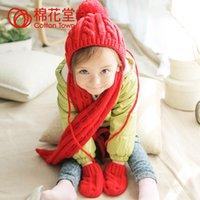 Wholesale Fashion Baby Girls Knit Sweater Scarf Cap Wraps Neck SCARF Hats Winter Warm