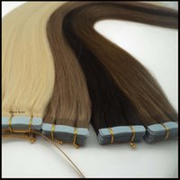 Wholesale Tape in Human Hair Extensions PU Skin Weft brazilan Indian Peruvian European remy human hair straight Double sided adhesive Inchs