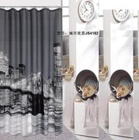 Wholesale New York City Shower curtain bath shower curtain bath curtain bathroom curtain hooks quality curtain printing screen waterproof