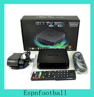 Wholesale 5PCS Amlogic S805 Quad Core MXQ TV Box RAM G ROM GB D Full HD P XMBC Andtoid TV Box