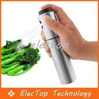 Wholesale New Stainless Steel Olive Pump Spraying Bottle Sprayer Can Oil Jar Pot Tool