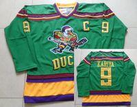 Wholesale Paul Kariya Anaheim Ducks Jerseys Kariya ice Hockey Throwback CCM Green Jersey Embroidery Stitched Authentic Ducks Jerseys