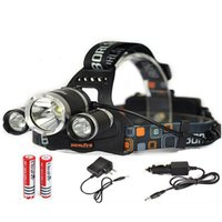 battery powered cycles - 5000LM W High Power CREE Head XML T6 LED Bicycle Bike Front Head Light HeadLamp Cycling Headlamps Light Battery