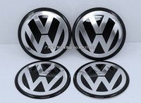 Wholesale 4pcs D Aluminum mm VW Wheel center caps Sticker Decal volkswagens LOGO badges Passat Golf New