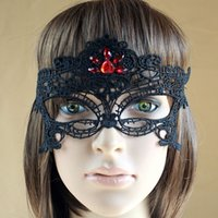 april jewels - MJ10 Black Lace Mask Prevent Bask Female Transsexuals Japan act Jewel Encrusted Sexy Eye Mask Lace Mask