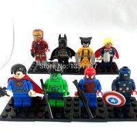 Wholesale DHL Super Hero Minifigures Figures Building Blocks Sets Model Toys For Children
