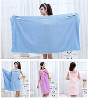 Wholesale New styleWomen Lady SPA Shower Towel Body Wrap Bath Robe Bathrobe Magic Spa Beach Dress g