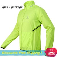 Wholesale Thin wicking waterproof breathable WOLFBIKE MTB bike jersey long sleeve windbreaker jacket hooded Cycling dust coat