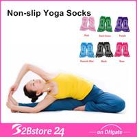 Wholesale Free DHL Essential Non slip Yoga Socks Outdoor Lovely Solid Knitted Socks Women Fitness Yoga Socks Sports Socks
