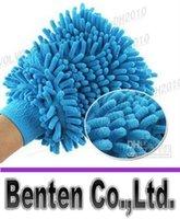 Wholesale llfa948 microfiber Snow Neil fiber high density car wash mitt car wash gloves towel