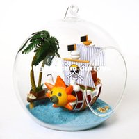 Wholesale Creative DIY Cabin for a ball Mini Sailing Adventures Glass Ball For Kids Birthday Present Class Ball For Children
