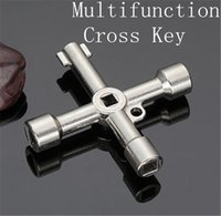 Wholesale 2015 New Universal Cross KEY Triangle Key for Train Electrical Elevator Cabinet Valve pc