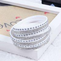 Wholesale New Unisex Multilayer Leather Bracelet Christmas Gift Charm Bracelets Vintage Jewelry For Women Pulsera