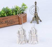 Wholesale 10pcs Silver Castle Name Number Table Place Card Holder Wedding Party Favor