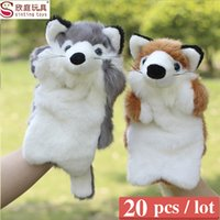 Wholesale Sale the fox plush toy hand puppet large size finger puppet pieces