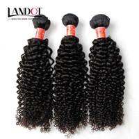 achat en gros de extensions de cheveux humains boucle frisée-Brésilien bouclé cheveux humains tisse 3 paquets non transformés 8A péruvien malais indien cambodgien mongol Jerry Kinky boucles extensions de cheveux