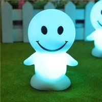 color changing night light - 20pcs New Novelty Gift Color Changing Face Smile LED Sleep Night Lights Baby Kids Room Decorative Lamp Wedding Party Christmas Gifts CM013