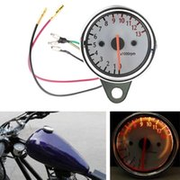 Wholesale Universal RPM Scooter Motorcycle Analog Tachometer Gauge12v Motorcycle Instruments Scooter Speed Indicator hot selling