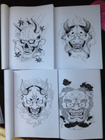Wholesale Japanese painting Designs Tattoo books by Horimouja Jack Mosher A4 size Vol the HANNYA Design Sketch Flash Tattoo Book