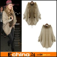 ladies poncho - Ladies loose Sweater Knitting Cardigan Bat Shirt Cape Snd Poncho Outwear