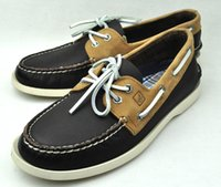 green shoelaces - Patchwork Shoelace Sperry Top Sider Sperrys Men Boat Shoes Genuine Leather Loafers