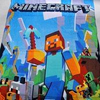 Wholesale 12pcs minecraft Children s bath towel beach towels Pure cotton cartoon ice colors towel