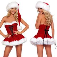 La capa atractiva de calidad superior de la ropa interior de la Navidad de Santa de Wholesale-2015 viste la ropa de Navidad feliz del traje de Cosplay del traje del traje de la Navidad de las mujeres de las mujeres
