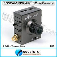 Wholesale All in one Boscam FPV Wireless Ghz Camera TR1 CMOS P MP built in Ghz mW transmiter Free shiping
