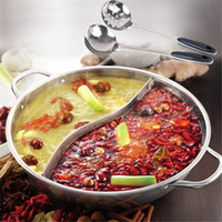 Wholesale Duck hot pot thick stainless steel cooker special pot Little Sheep hot pot ruled CM