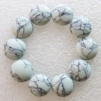 Wholesale Intriguing Fashion White Howlite Round CAB CABOCHON x6mm