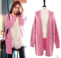 acting agencies - Fall new South Korea act as purchasing agency loose long thickening knitting cardigan big yards in the ladies sweater coat