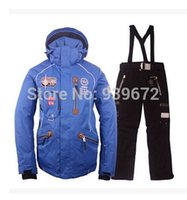 Wholesale new arrival luxury brand windproof waterproof breathable super warm ski clothes suit