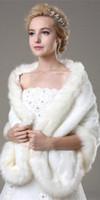 Wholesale 2016 SSJ New Bridal Wraps Jackets White Faux Fur Shrug Cape Stole Wrap Wedding Bridal Special Occasion Shawl CPA333