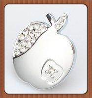 apple furniture - 8pcs apple shape Single Hole Knob Zinc Alloy Crystal diamond furniture knob drawer knob