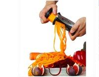 Wholesale 2016 Fruit Slicers Spiral Slicer Shred Process Device Cutter Slicer Peeler Kitchen Tool Slicer spiralizer julienne cutter