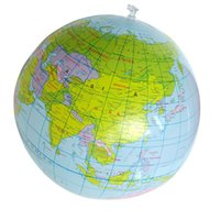 best world globe - Hot Salw Best seller Inflatable World Globe Teach Education Geography Toy Map Balloon Beach Ball Wonderful gift for your Children baby zk