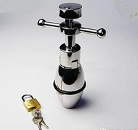 Wholesale Chastity Device adult product Stainless Steel Anal Plug Anal Sex Toys