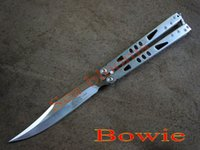 bowie knives - 2 blade styles Microtech Tactical knife Tachyon II Stonewash Stainless steel bowie Tanto blade survival hunting knife knives for sale