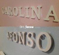 Wholesale Fashion Hot Home Decor Decoration thick Wood Wooden White Letters Alphabet Wedding Birthday cmX1 cm