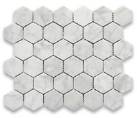 Wholesale Bianco carrarra white marble tile hexagon mosaic tile Italy carrarra white marble tiles long last beauty fashion